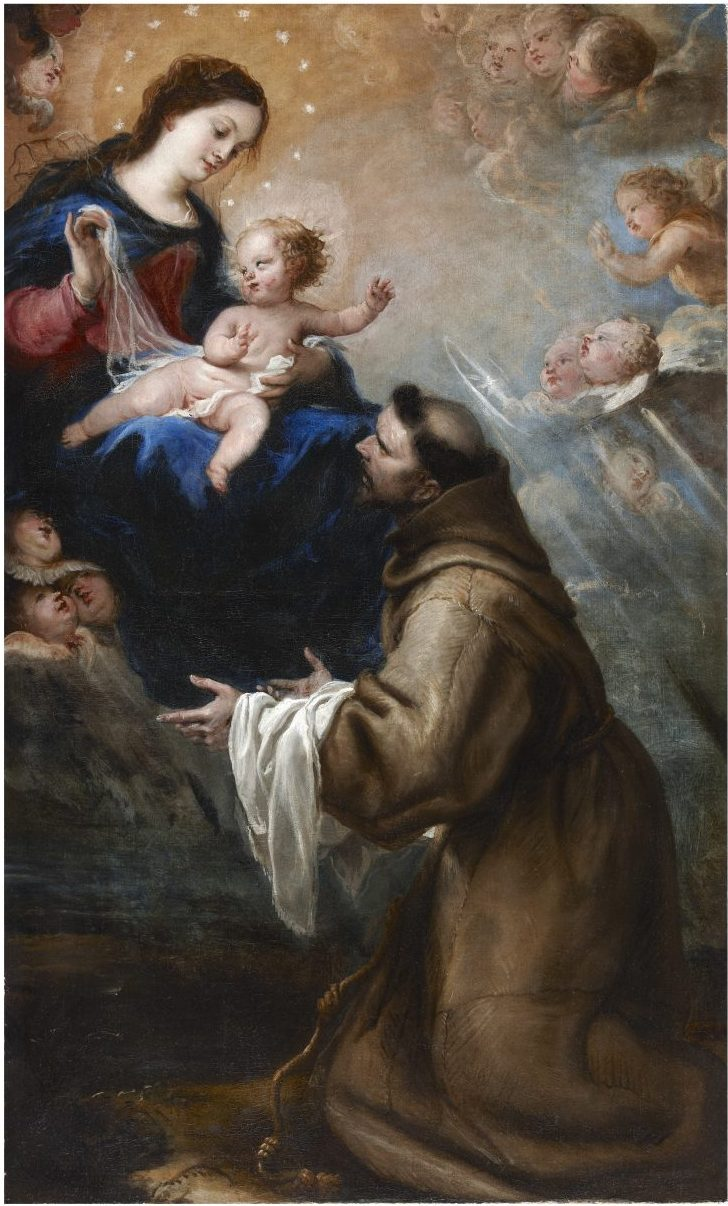 The virgin and Child Appearing Before Saint Francis in…