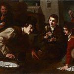 Catalogo Cuatro picaros timando a un vendedor de quesos mientras juegan a la Apatusca Jeronimo Jacinto de Espinosa Galeria Caylus