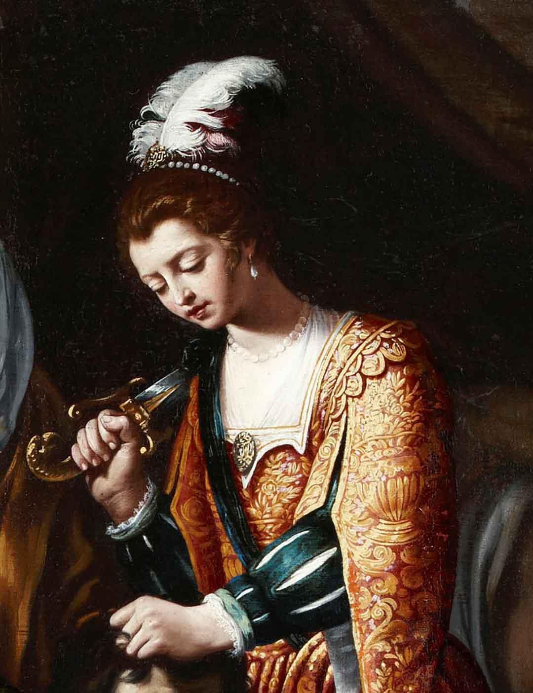 Catalogo Judith y la sirvienta Abra con la cabeza de Holofernes Pedro Nunez del Valle Galeria Caylus