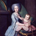 Catalogo Retrato de Dona Cecilia Freire de Beramendi y su hijo Joaquin Inza Galeria Caylus