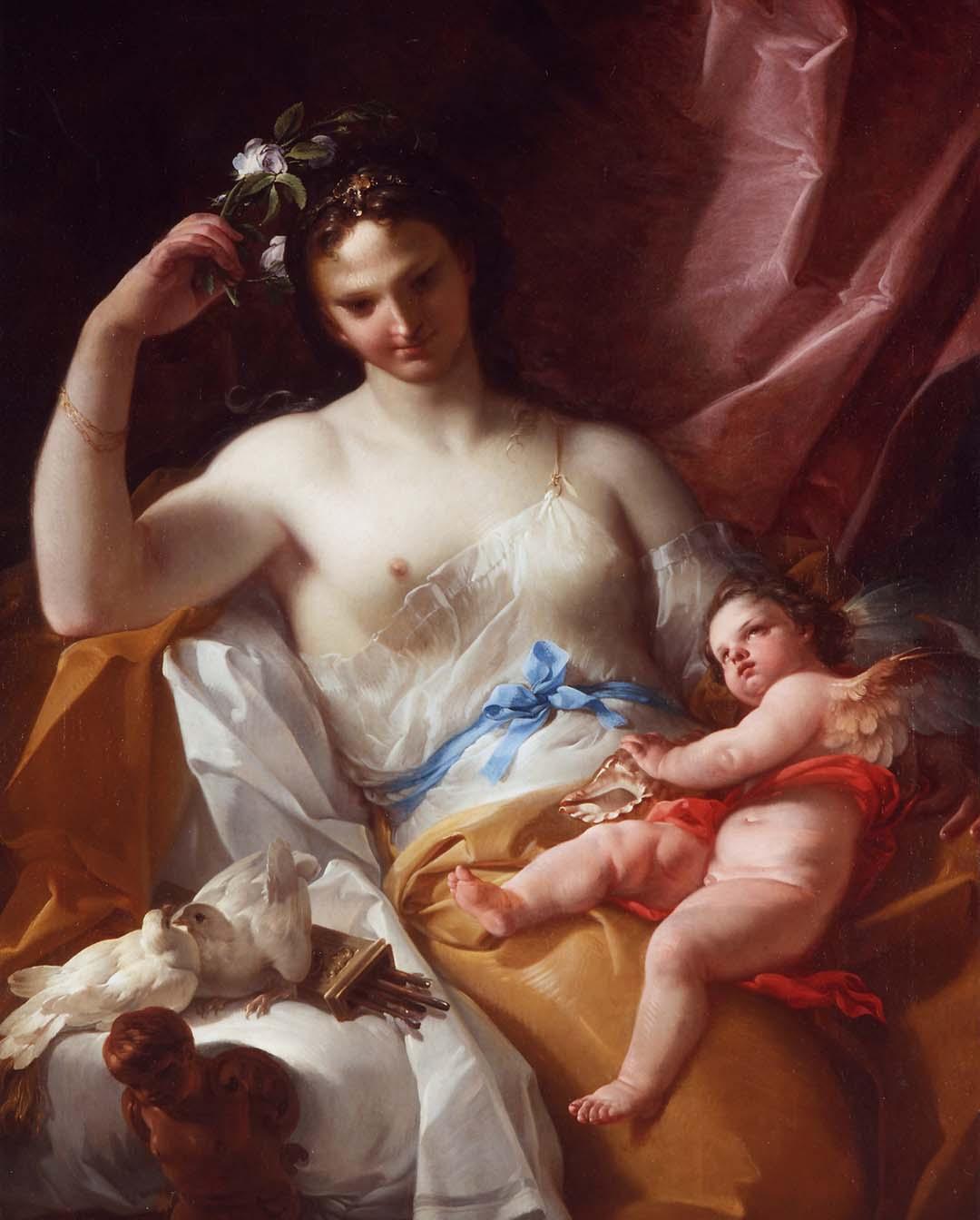 Ventas destacadas Corrado Giaquinto Venus y Cupido Galeria Caylus